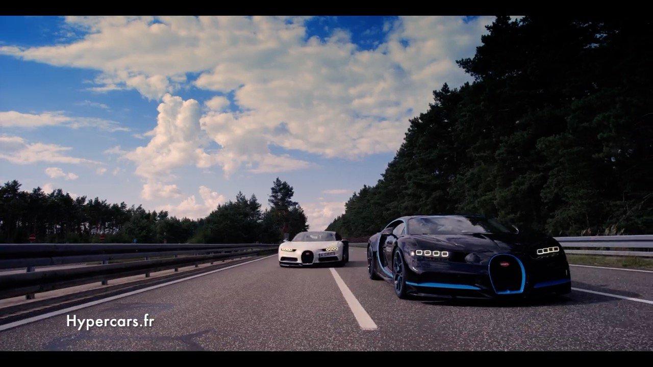 À 400 km/h, il n'y a qu'une Bugatti Chiron pour filmer ...... une Chiron !