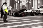 Black Bugatti Veyron on MPC Black Wheels Dubai.